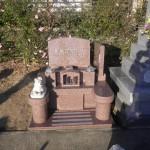 【洋型オリジナルデザイン墓石】岡崎市 正願寺 わんちゃんといっしょに